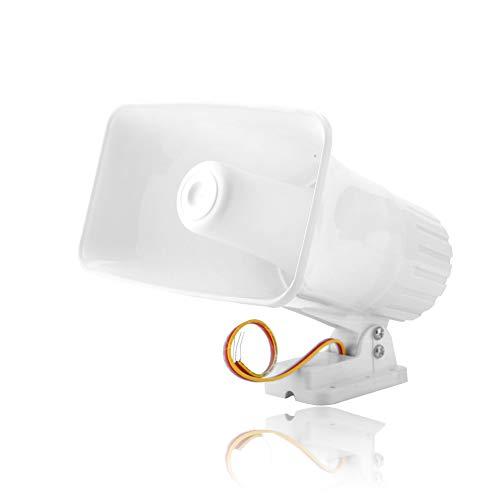 Sirena de alarma de 12 V para la seguridad en el hogar Sistema de alarma de advertencia de Althorn de doble tono con conexión de cable de 150dB con Shell ignífugo, Adecuado para Alarma Host / Alarma