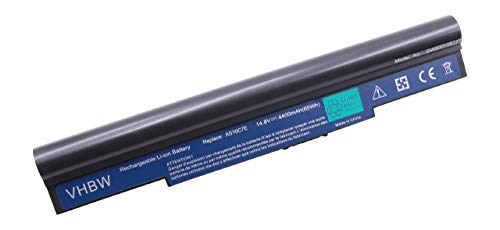 vhbw Akku 4400mAh für Notebook Laptop Acer Aspire 5943G, 5950G, 8943G, 8950G, AS5943G, AS8943G wie 41CR19/66-2, 4INR18/65-2, 934T2086F, AK.008BT.079