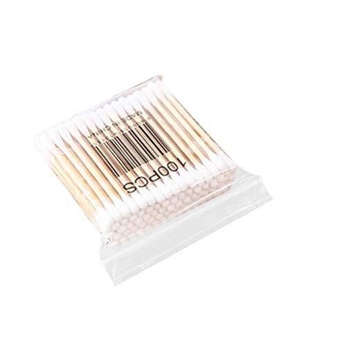 MuSheng(TM) (6 Paquets 600 Pièces) Cotons-tiges | Bourgeons de Coton biodégradables | Cosmetics Ear Clean Tampons de Coton bâton Double tête Bâtons de Maquillage (6pack)