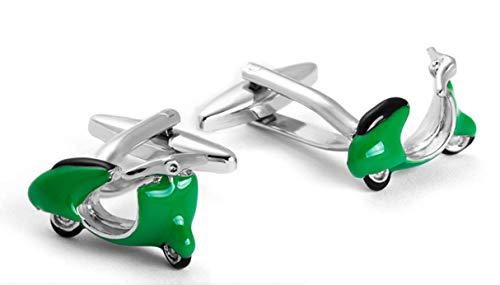 Cufflez Cufflinks – Manschettenknöpfe, das MUSS zu jedem Outfit – Grüner Motorroller