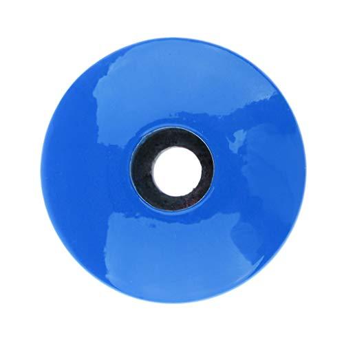 D dolity fibra de carbono MTB ciclismo bicicleta Headset Stem Top Cap Tapa, azul