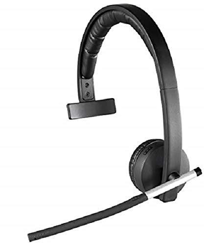 Logitech H820e Cuffie Wireless, Mono Con Microfono a Cancellazione di Rumore, USB, Controlli Cuffia, Indicatore LED, Compatibili con PC/Mac/Laptop, Nero