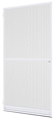 Windhager Insektenschutz Spannrahmen Expert,Fliegengitter Alurahmen für Türen, individuell kürzbar, 120 x 240 cm, weiß, 04332