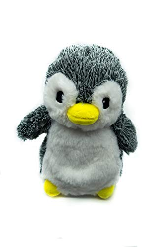 KUKI Peluche Pinguino Riscaldabile al Microonde con Semini Miglio | Non Profumato