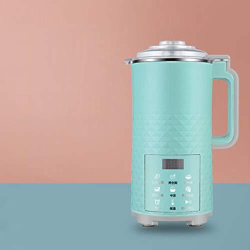 BMMMZ 700ml automatische elektrische Soymilk Maschine Haushalt Multifunktions-Mini Entsafter Soja-Bohne Milch einrühren Reis Filter frei Maker einfügen (Color : Green)