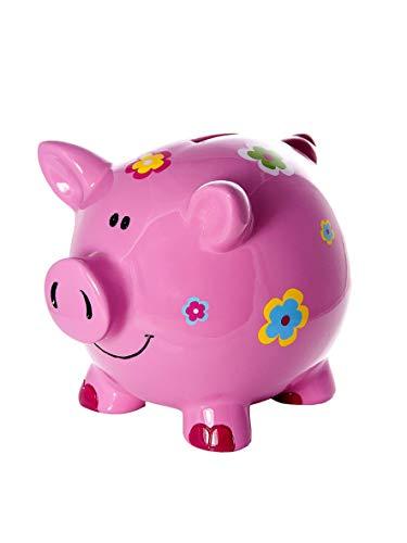 Mousehouse Gifts Las niñas Grandes huchas Infantiles niños bebé Adulto Cerdito Piggy Bank Rosa con Flores
