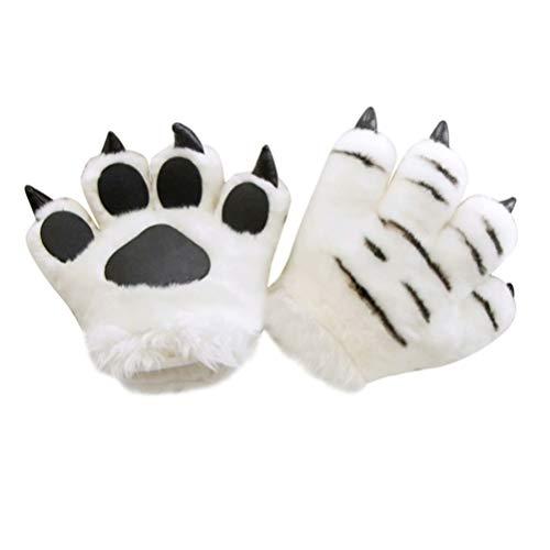 Toyvian Tier Pfoten Klaue Handschuhe Kinder Tiger Kostüm Winter Warme Tier Cosplay Handschuhe Tierkostüm für Weihnachten Karneval Festival