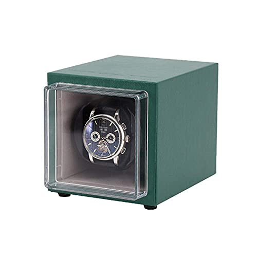 FGVBC Mira enrollador de Reloj Individual para Relojes automáticos, Almohada de Felpa Flexible, Exterior de Cuero PU, configuración de 4 Modos de rotación Happy Life