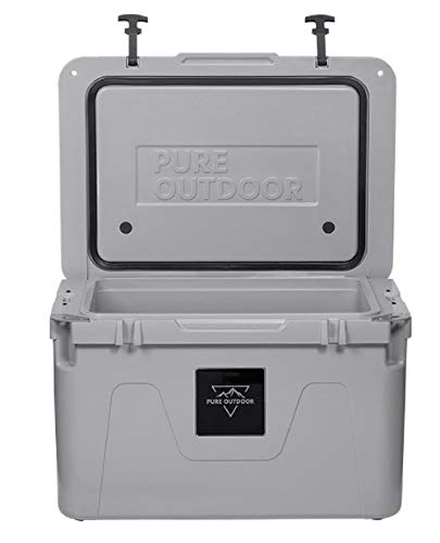 Monoprice Emperor Cooler - 50 Liters - Gray | Securely Sealed, Ideal for The Hottest and Coldest Conditions - Pure Outdoor Collection