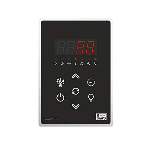 SAWO Innova Classic 2.0 Steuereinheit für elektrische Saunaöfen, Bedienfeld und Netzteil, Multispannung: entweder einphasig oder dreiphasig; für Saunaofen mit Dampfgarer (Combi)