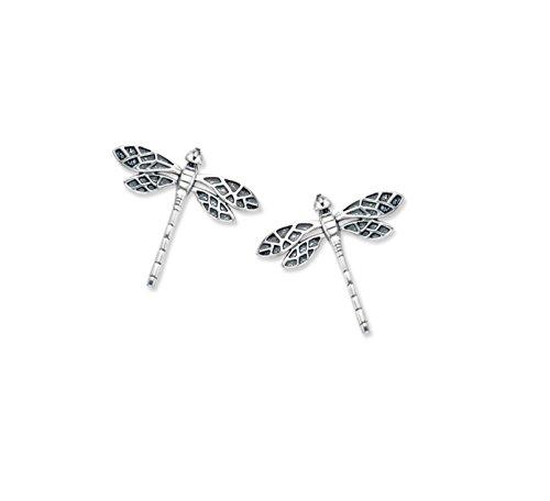 Pendientes de plata de ley, diseño de libélula,12x 12mm,en caja de regalo,5054/B41HN