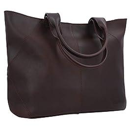 Gusti Sac Cabas Cuir – Cecilia Sac à Main cuir véritable sac cabas vintage femme sac grand format marron sac à main…