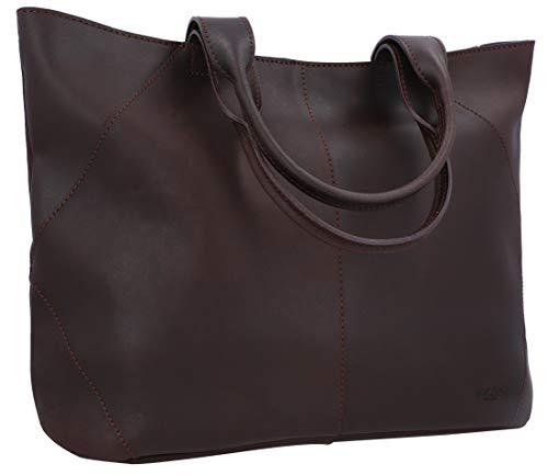Gusti Sac Cabas Cuir - Cecilia Sac à Main cuir véritable sac cabas vintage femme sac grand format marron sac à main bohème chic cuir