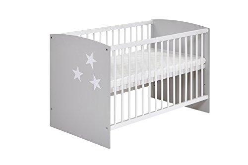 Schardt 03 493 46 02 Lit bébé – Classic Grey Blanc 60 x 120 cm
