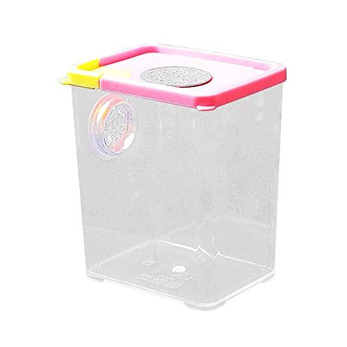 HXHON Reptilien-Zuchtbox transparent Futterbox Acryl Reptil Terrarium Käfig Tank Insektenbeobachtung Box für Gecko Eidechse Schlange Spinnen Taranteln Geckos Schnecken Einsiedchen Krabben