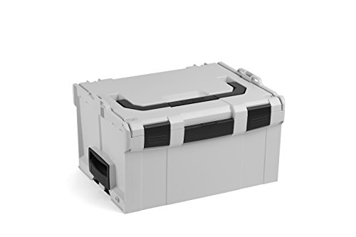 Bosch Sortimo L BOXX 238 | Größe 3 grau | Werkzeugkoffer leer groß Kunststoff | Transportsystem Werkzeug | Ideale Werkzeug Aufbewahrung Box