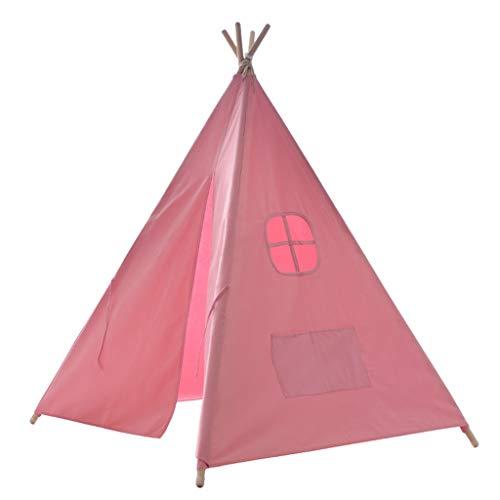 Tent Kinderhausdekoration Einfaches Zelt, Rosa Spiel Indoor Kinder-Spielzeug Mädchen-Prinzessin Drawing-Bereich Esszimmer Kinderzelt Bequeme Lagerung Fotografie Requisiten (Size : 120 * 120 * 160CM)