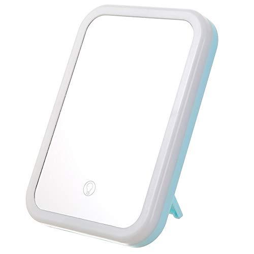 Miroir de Maquillage Pliant LED Miroir de Maquillage LED Interrupteur Tactile de lumière Naturelle USB Charge Miroir HD 3 température de Couleur Miroir LED