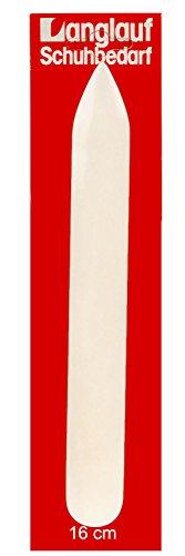 Falzbein 160mm aus echtem Knochen von Langlauf Schuhbedarf - Falzbein aus echtem Knochen - zum präzisen Falten von Papier oder leichtem Karton und zur Lederverarbeitung