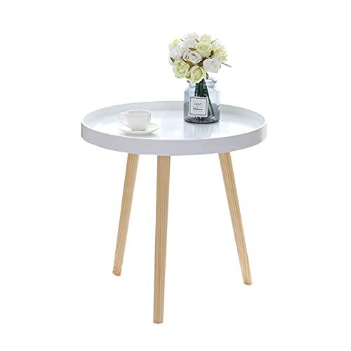 Home-table Mesa De Comedor Pequeña Simple, Mesa Redonda Mesa Auxiliar De Madera Portátil Portátil Fácil De Instalar Tabla De Café Dormitorio De Estudiante Mesa De Refrigerio(Size:38 * 42CM,Color:#1)