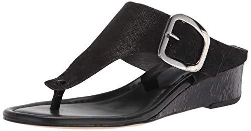 Donald J Pliner Women's Wedge Sandal, Black, 6.5