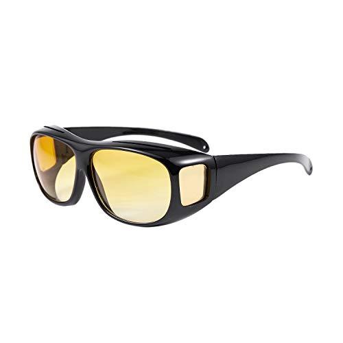 Fransande Auto KFZ Brille Sonnenbrille Nachtfahrbrille Nachtsichtbrille Kontrastbrille ideal gegen blendendes Licht bei Nachtfahrten