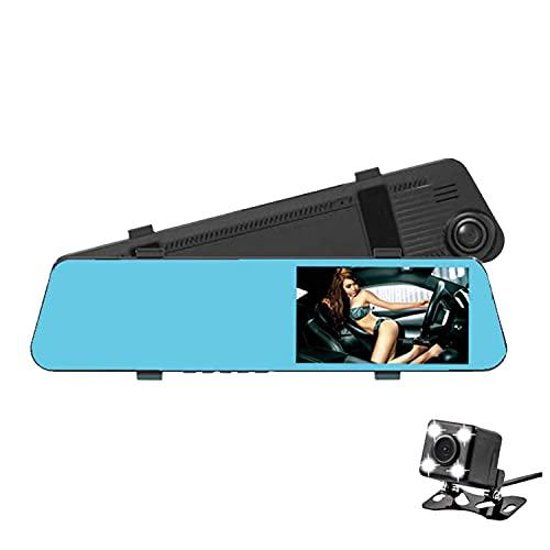 Andylies 4,5 Pulgadas 1080 HD P Coche DVR CáMara de Salpicadero Vista Trasera Lente Dual HD VisióN Nocturna Grabadora de Marcha AtráS Piezas de AutomóVil
