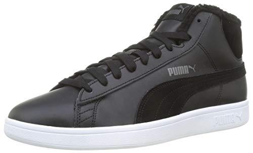 PUMA Smash V2 Mid WTR L, Zapatillas Unisex Adulto, Negro Black/Dark Shadow White, 38 EU