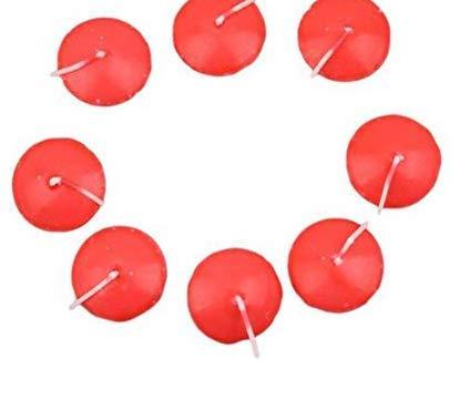 rosenice Schwimmkerzen für Hochzeit Geburtstag Party Deko 10Stück (rot)