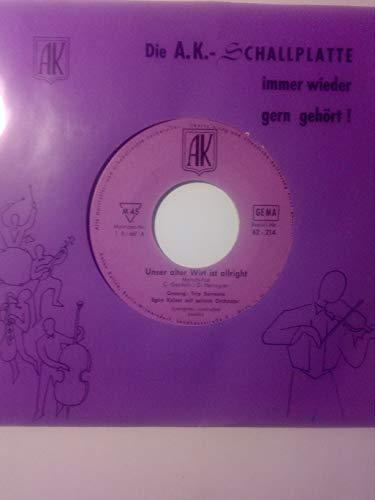 Unser alter Wirt ist allright/Katschka-Polka (7' Vinyl Single)(1958)(AK 62214)