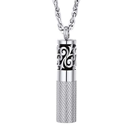 PROSTEEL Men Perfume Locket Round Pendant Necklace Diffuser Essential Oil Women Jewelry Stainless Steel Aromatherapy Necklace