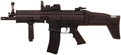 CyberGun Fusil Airsoft Scar-L (Ref.200966) / Plástico de Alta Resistencia/Color Negro/Eléctrico (0,5 Julios) / Semiautomático