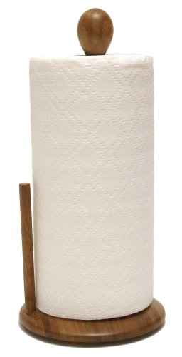 Lipper International 8838 Bamboo Wood Standing Paper Towel Holder, 7-1/4' x 12-1/2'