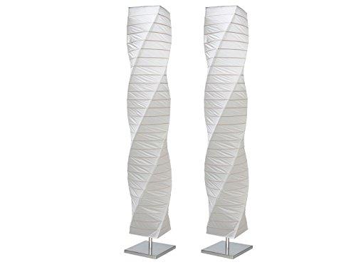 Set van 2 gedraaide vloerlampen papieren lampen rijstpapier lamp, 149 cm hoog papieren lamp