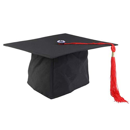 Artibetter Unisex Afstuderen Cap Met Rode Kwast Verstelbare Baret Hoed Grad Partij Hoofddeksels Haaraccessoires Voor 2020 Afstuderen Feestartikelen Geschenken