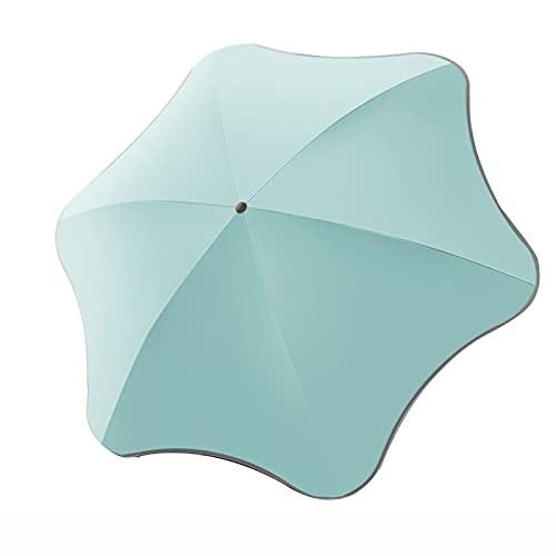 HOUSEHOLD Paraguas de Viaje Sombrillas Plegables Compactas Cierre Automático, Sombrilla de Protección UV Simple con Tiras Reflectantes, Hombres Mujeres Son Aplicables