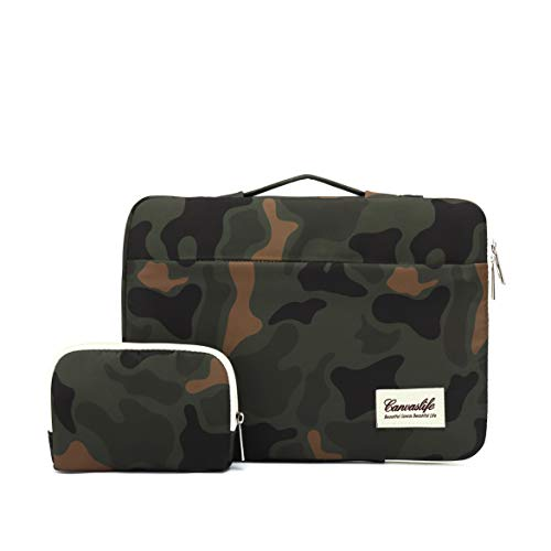 canvaslife 360° Protective 13 inch-13.5 inch Waterproof Laptop Case Bag Sleeve with Handle for 13.3' MacBook Air | 13' MacBook Pro Retina and 13.3 inch 13.5 inch Laptop(Camouflage)