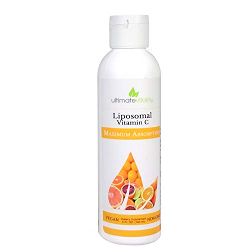 Liposomal Encapsulated High Dose Vitamin C Liquid Supplement 1000mg with 400 mg phosphatidylcholine, Antioxidant and Immune System Support, Vegan Non GMO Soy Free - 30 Servings