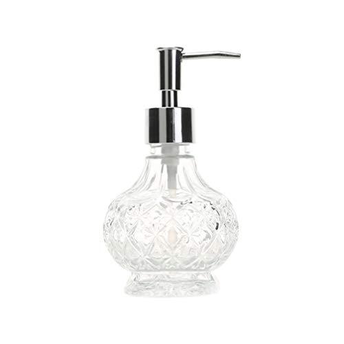 UPKOCH Seifenspender Glas Lotionspender Nachfüllbar Leer Pumpflasche Vintage Handlotion Shampoo Seifen Behälter Küche Badezimmer Hotel Waschbecken (Weiß)