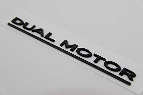 E965 dual motor Emblem Badge auto aufkleber 3D mobil Abzeichen car Sticker Plakette schwarz