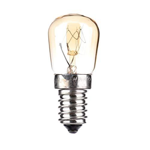 Augneveres LED estándar de filamento, Lámparas Pygmy con Tapa de Rosca pequeña E14 para Horno, hasta 300 Grados, 2650k, Blanco cálido 15w / 25w Natural