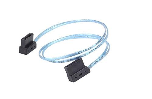 SilverStone SST-CP11 - SATA III 6 Gbps Kabel, ultra-dünn, um 90° abgewinkelte Anschlüsse, 30 cm, blau