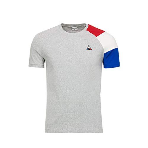 Le Coq Sportif - Camiseta de manga corta para hombre (talla L), color gris