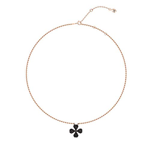 AGATHA Paris - Collar de plata con trébol de trébol de trébol simple y chapado en oro