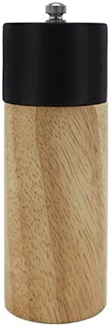 Pepper Grinder and Salt Mill Set 6 Inch Manual Rubber Wooden Ceramic Rotor Refillable Powered product image