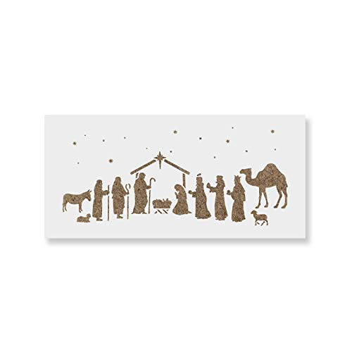 Nativity Stencil - DIY Stencils That Work Great for Wood Signs and DIY Craft Projects