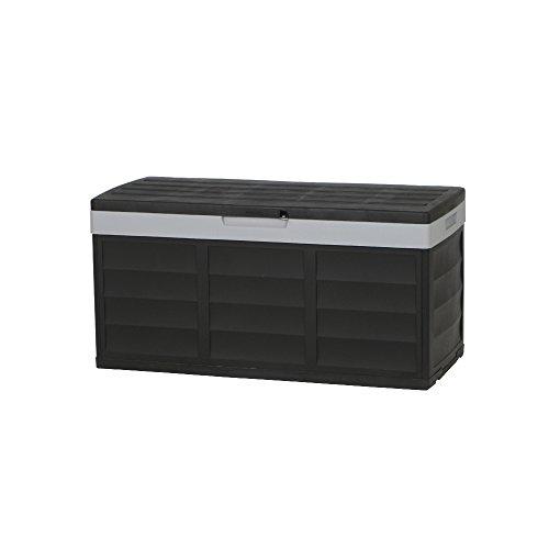 Keter 17183982 Kissenbox Pack & Go 305 L, Kunststoff, schwarz/grau