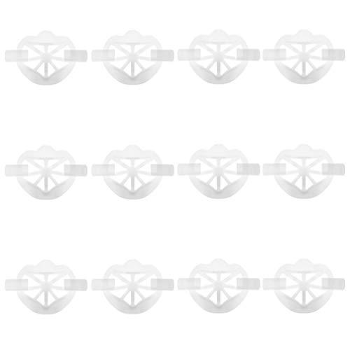 HEALLILY 12 Stücke Lippenstift Schutzständer Nasenschutz Gesichtsschutz Innenhalter Rahmen 3D Nasenpads Halterung Zubehör für Kinder Erwachsene Weiß