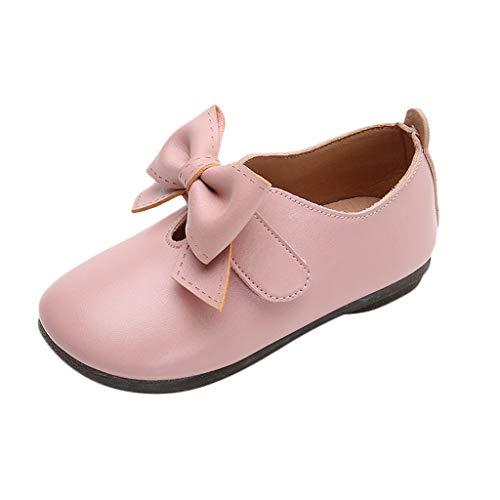 Berimaterry Elegantes Suela Blanda Zapatos de Princesa 2019 Verano Zapatos de Bebé Zapatillas de Cuero Niño Niña Patucos de Piel con Elástico para Bebé - Zapatitos Primeros Pasos 1-5 1 Año de Edad