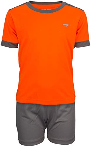 Avento Kinder Sport Fitness Trikot Set Shirt Shorts orange-anthrazit Gr.116